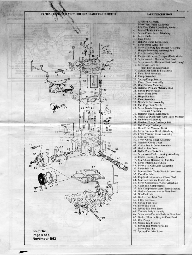 Quadrajet Parts Diagram - Diagrams Catalogue
